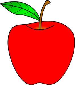 red apple clip art at clker com vector clip art online royalty rh clker com apple clip art free images apple clip art black and white