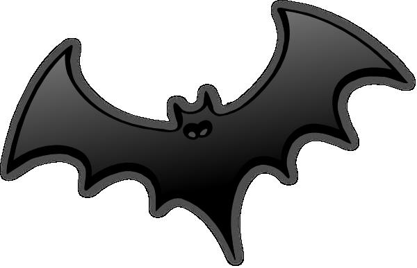 Black Bat Clip Art at ...