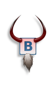 B With Horns Clip Art