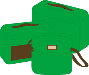 Green Suit Case Clip Art