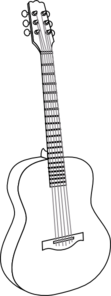 Guitar With Thicker Lines Clip Art at Clker