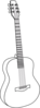 Guitar, With, Thicker, Lines Clip Art
