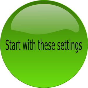 Start Settings Clip Art
