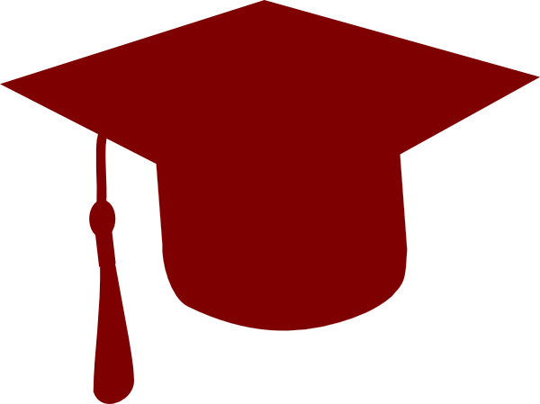 Grad Cap Crimson Clip Art At Clker Com Vector Clip Art