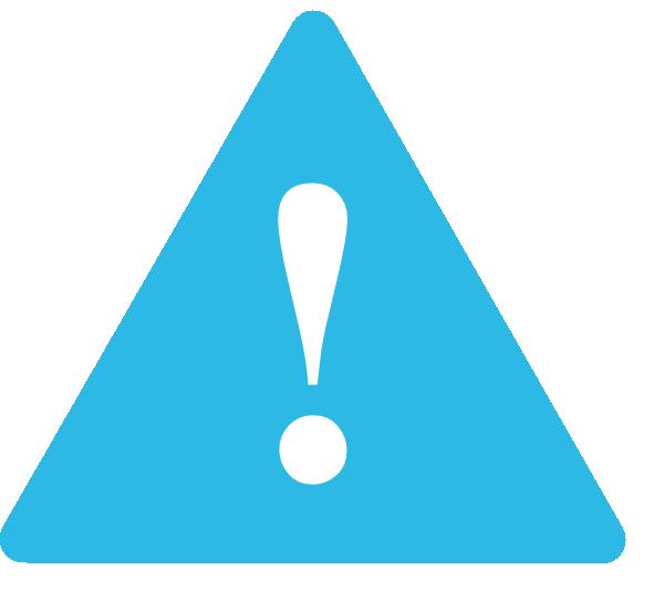 Light Blue Warning Sign Clip Art at Clker.com - vector clip art online ...