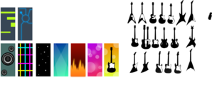 Various Types Of Guitars Clip Art
