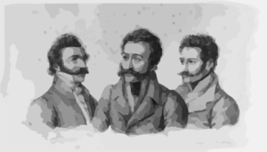 [portrait Of Three Men] Clip Art