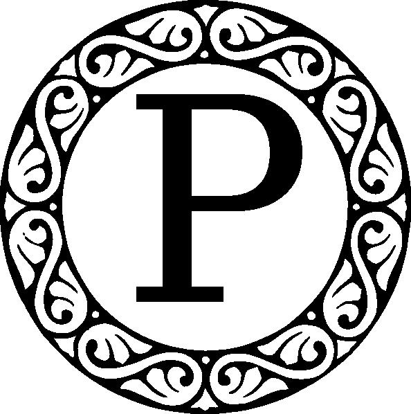 Monogram Letter P Clip Art at Clker.  vector clip art online