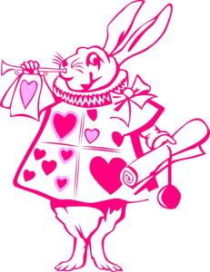 Hot Pink Rabbit Clip Art