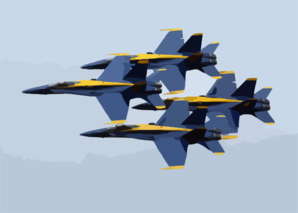 F/a-18 Hornets Assigned To The U.s. Navy Blue Angels Flight Demonstration Team , Perform At The 2002 N Clip Art