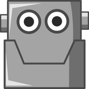 Happy Robot Head Clip Art