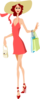 Shopping Woman2 Clip Art