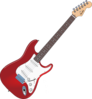 Slanted Red Fender Clip Art