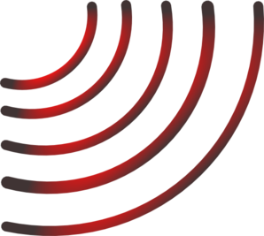 Radio Waves (black And Red) Clip Art