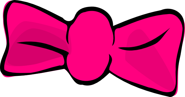 pink hair bow clip art at clker com vector clip art online rh clker com bow clipart free bow clip art images free