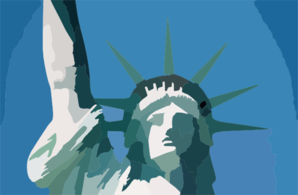 New York City Liberty Island Statue De La Liberte Clip Art