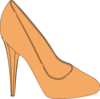Orange High Heeled Shoe Clip Art