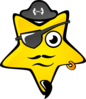 Pirate Star Clip Art