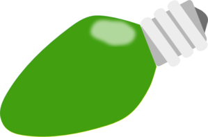 Green Christmas Lightbulb Clip Art