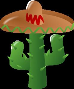 Cactus Wearing A Sombrero Clip Art at Clker.com - vector clip art ...