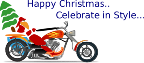 Christmas Motorcycle Clip Art