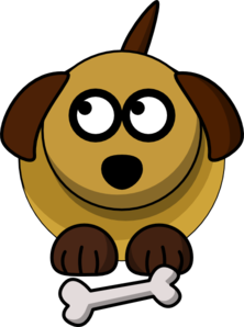 Dog Looking Left-up Clip Art