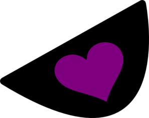 Purple Heart Eye Patch Clip Art
