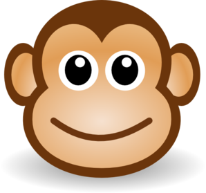 Happy monkey face clip art