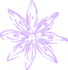Lilac Purple Lily Outline Clip Art