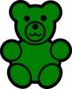 Green Bear Clip Art