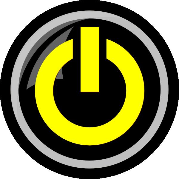 yellow power button clip art at clker com vector clip art online royalty free public domain clker