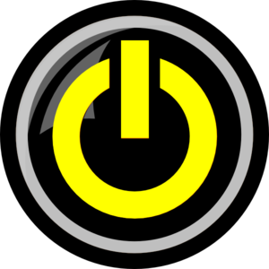 Yellow Power Button Clip Art