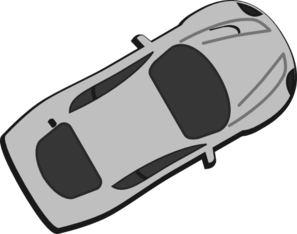 Gray Car - Top View - 30 Clip Art