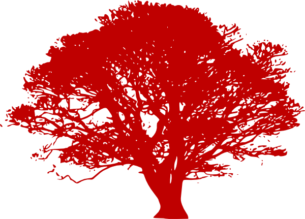 resume red tree silhouette clip art at clker com