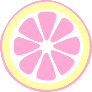 Pink Lemon Slice Clip Art