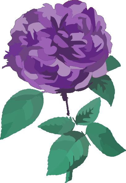 Purple Flower No Background Clip Art at Clker.com - vector ...