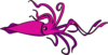 Purple Pink Squid Clip Art