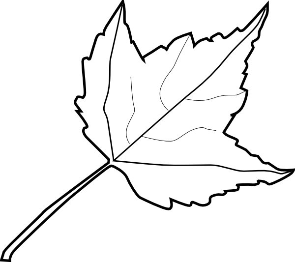 Maple Leaf Outline Clip Art at Clker.com - vector clip art ...