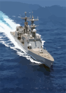 The Spruance Class Destroyer Uss Deyo (dd 989) Conducts Underway Operations In Support Of Operation Iraqi Freedom. Clip Art