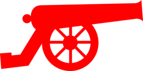 Red Cannon Clip Art