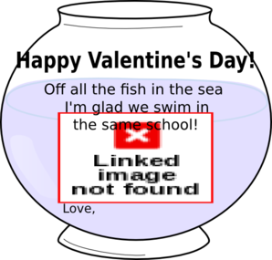 Fish Bowl Valentine Clip Art