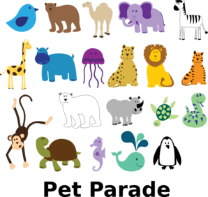 Pet Parade Clip Art