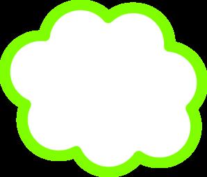 Green Cloud Clip Art at Clker.com - vector clip art online, royalty ...
