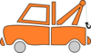 Orange Tow Truck Clip Art