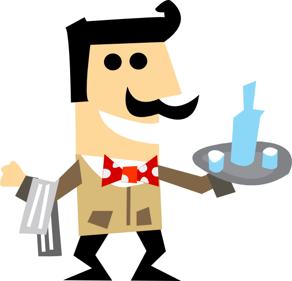 PNG small  medium  large  Waiter Clipart Png