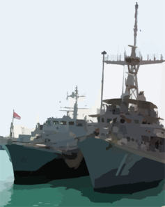 From Left, British Mine Countermeasures Ship Hms Sandown (m 110) And U.s. Navy Mine Countermeasures Ship Uss Ardent (mcm 12) Stand Together In The Waters Of The North Arabian Sea Clip Art