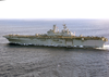 Uss Bataan (lhd 5) Steams Through The Atlantic Ocean As One Of Seven Ships Attached To Amphibious Task Force-east Image
