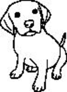 black and white puppy free images at clker com vector clip art rh clker com puppy dog clipart black and white pet animals clipart black and white