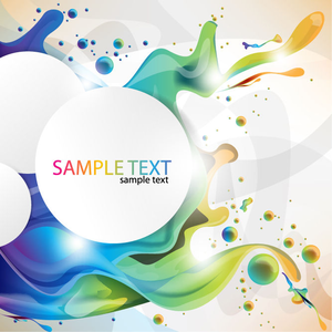 Colorful Paint Splashing Vector Art Image