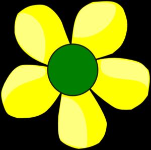 Yellow flower clip art at clker vector clip art online yellow flower clip art mightylinksfo